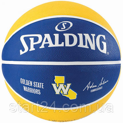 Мяч баскетбольный Spalding NBA Team GS Warriors Size 7, фото 2