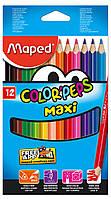 Олівці кольорові Maped Color Peps Maxi 12 кольорів (MP.834010)