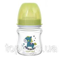 Антіколіковая пляшечка Canpol babies з широким отвором EasyStart Toys зелена (35/222_gre)