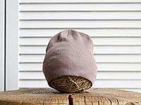 """Детская однослойная шапка """"Tabby"""", капучино от 42 до 54 см, фото 1"""