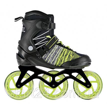 Роликовые коньки Nils Extreme NA1206 Size 39 Black/Green, фото 2