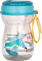 Поїльник Canpol Babies з трубочкою бірюзовий 350 мл (56/518)
