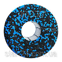 Массажный ролик (валик, роллер) гладкий 4FIZJO EPP PRO+ 33 x 14 см 4FJ1417 Black/Blue, фото 3