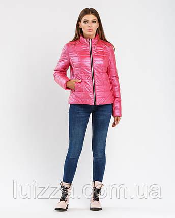 Приталенная куртка 42 44 46 48 50 52 54 р малиновый, фото 2