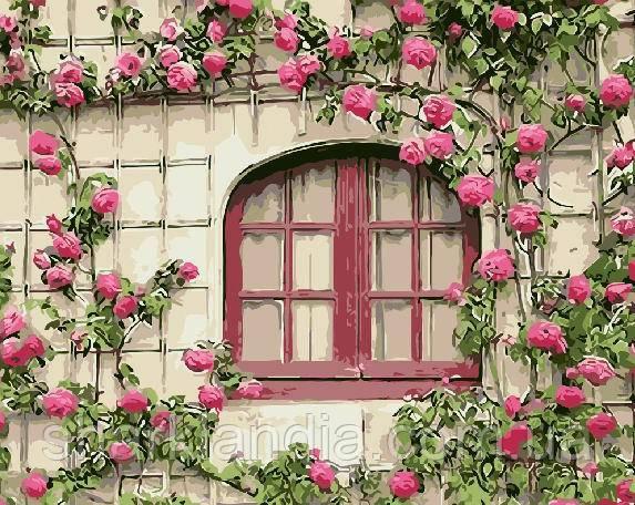 Розовые цветы 40*50см Brushme Картина по номерам