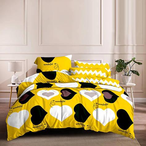 Семейный комплект постельного белья сатин (15767) TM КРИСПОЛ Украина, фото 2