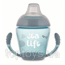 Кружка непроливайка Canpol Babies Sea Life з силіконовим носиком 230 мл сірий (56/501_grey)