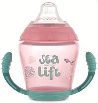 Кружка непроливайка Canpol Babies Sea Life з силіконовим носиком 230 мл рожевий (56/501_pin)