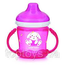 Кружка непроливайка Canpol Babies Sweet fun 180 мл рожева (57/300_pin)
