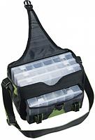 Сумка для рыбалки наплечная с секциями для снастей и спиннинга Spinn bag Premium S Mivardi Чехия.