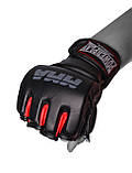 Рукавички для MMA PowerPlay 3053 Чорно-Червоні S/M, фото 2