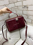 Жіноча сумочка комбінована нат.замша/кожзам 2042-1 Kors, фото 2