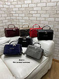 Жіноча сумочка комбінована нат.замша/кожзам 2042-1 Kors, фото 4