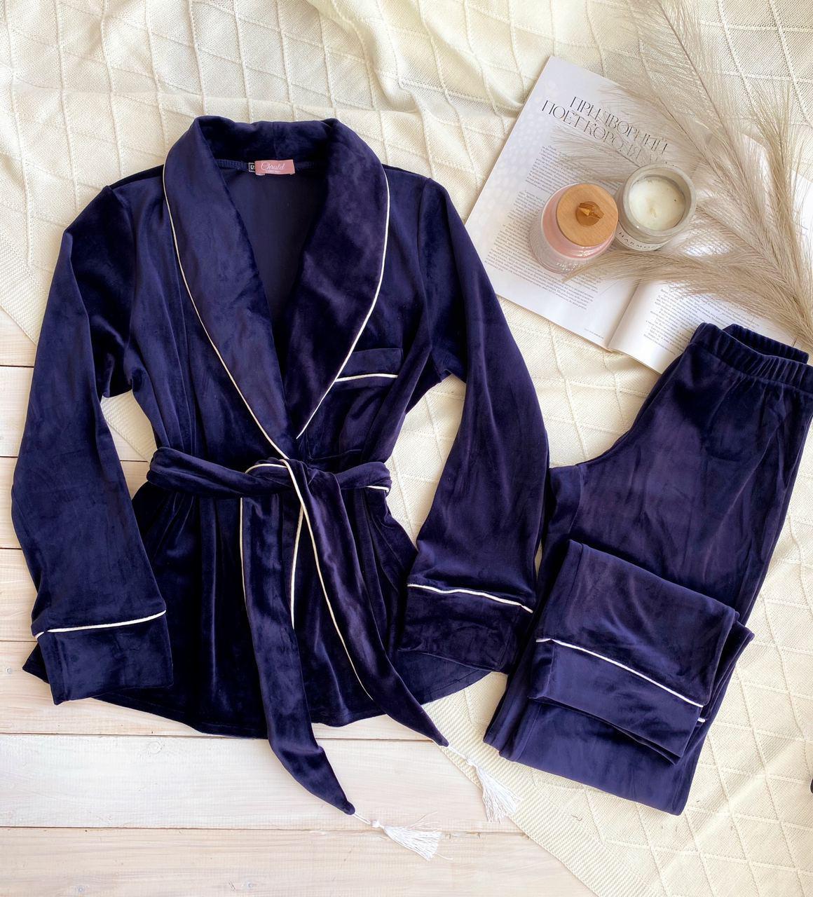 Плюшевый комплект Халат+штаны