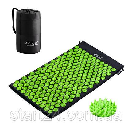 Коврик акупунктурный 4FIZJO Аппликатор Кузнецова 72 x 42 см 4FJ0040 Black/Green, фото 2