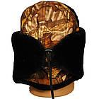 Шапка ушанка SkyFish One Size 55-65 см меховая зимняя ткань мембрана черный мех, фото 3