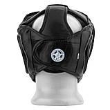 Боксерський шолом тренувальний PowerPlay 3066 PU + Amara Чорний M, фото 2
