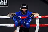 Боксерський шолом тренувальний PowerPlay 3066 PU + Amara Чорний M, фото 8