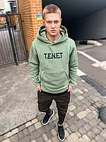 Худи мужское толстовка свитшот с капюшоном весенний осенний мятный модный TENET, фото 1