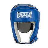 Боксерський шолом турнірний PowerPlay 3084 S синій, фото 2