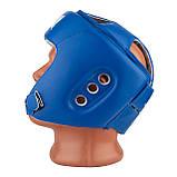 Боксерський шолом турнірний PowerPlay 3084 S синій, фото 3