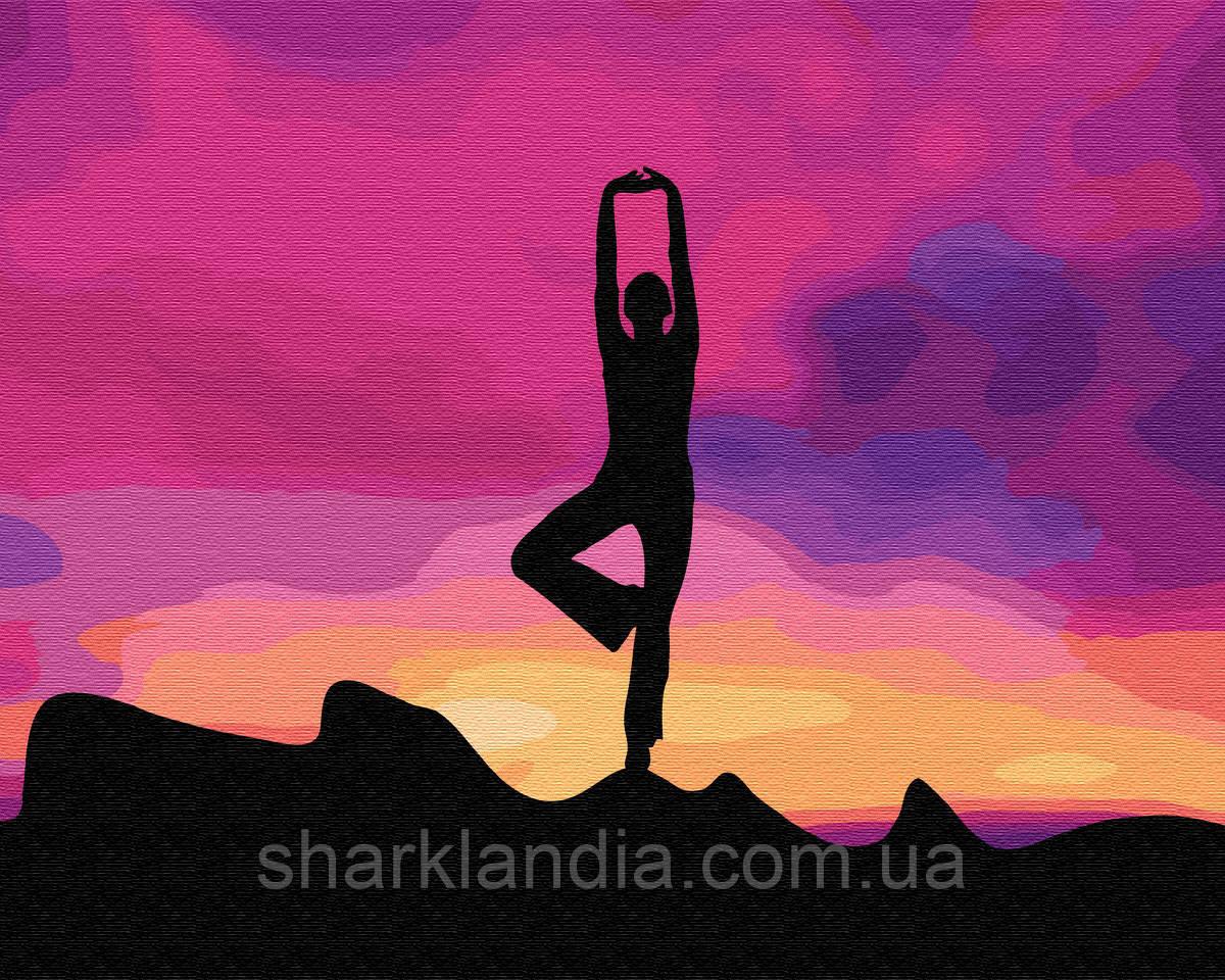Медитация на закате 40*50см Brushme Картина по номерам