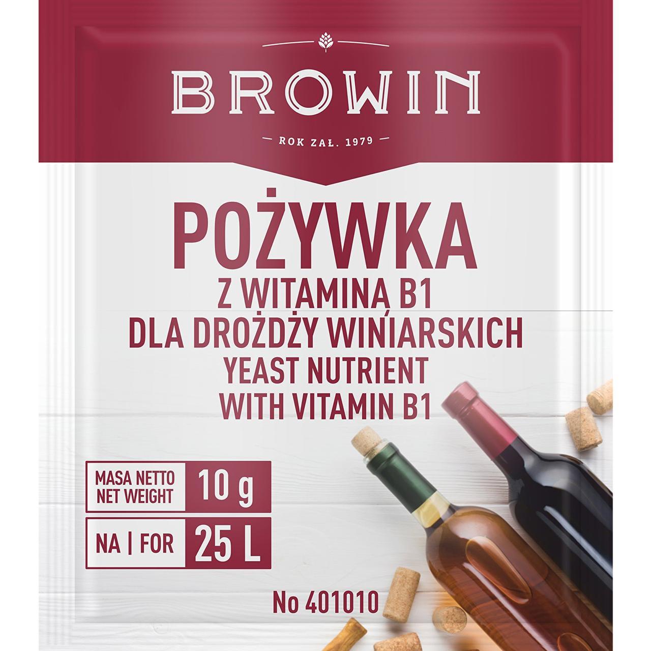 Питательная среда для виноделия с витамином B1 BROWIN Польша Термін придатності до 01.2021