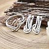Серебряный набор Ш735 кольцо размер 16.5 + серьги 19х8 мм вставка белые фианиты, фото 2