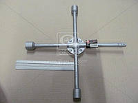 Ключ крест усиленный, с центр. пластиной, 17X19X21X1/2 мм. . DK2811-4