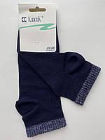 Носки женские средние c люрексовой резинкой Классик синие размер 23-25 (36-40)