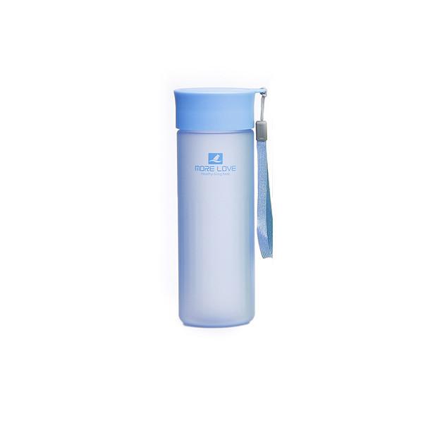 Пляшка для води CASNO 600 мл MX-5014 More Love Блакитна