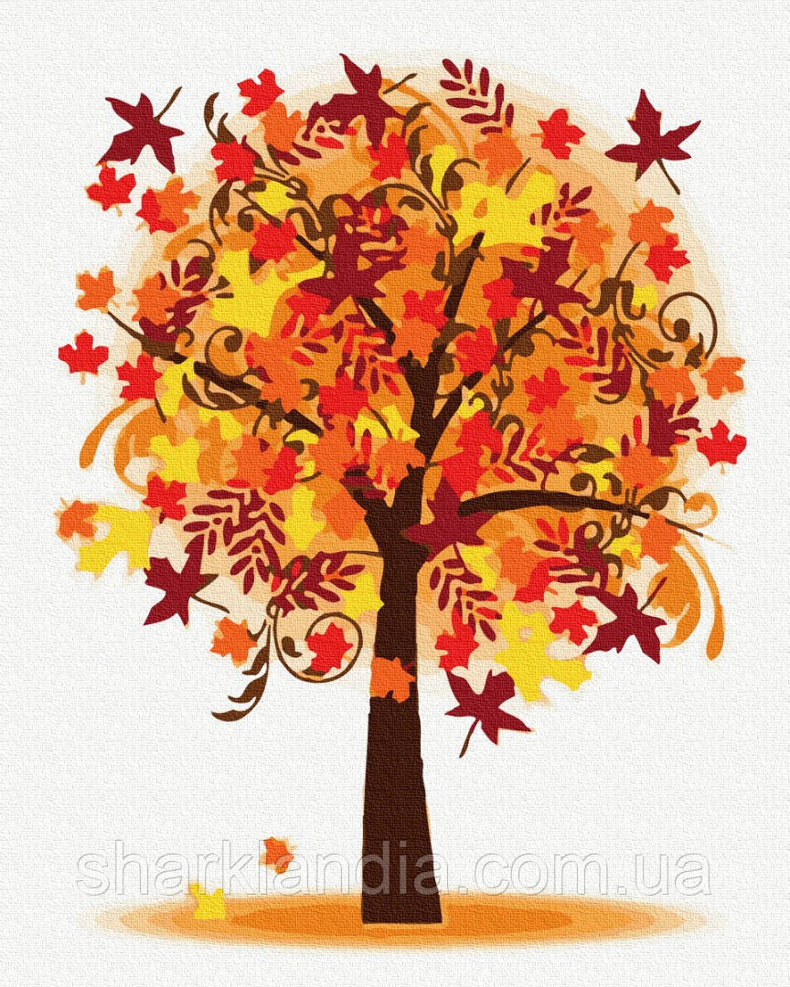 Осенние деревья 40*50см Brushme Картина по номерам