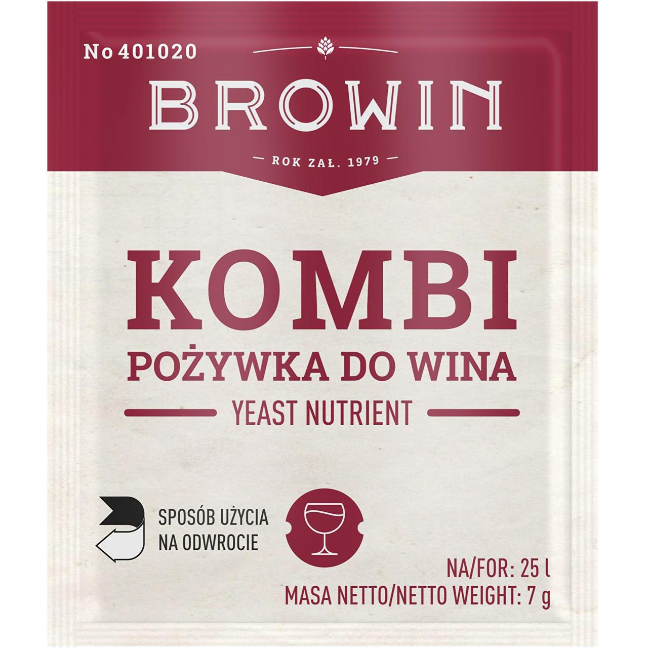 Комби питательная среда для виноделия с витамином B1, BROWIN Польша Термін придатності до 01.2021