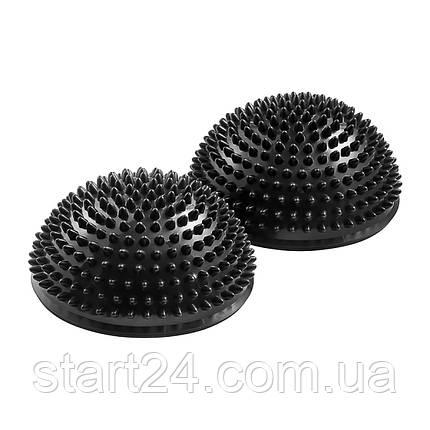 Півсфера масажна балансувальна (масажер для ніг, стоп) 4FIZJO Balance Pad 16 см 4FJ0108 Black, фото 2