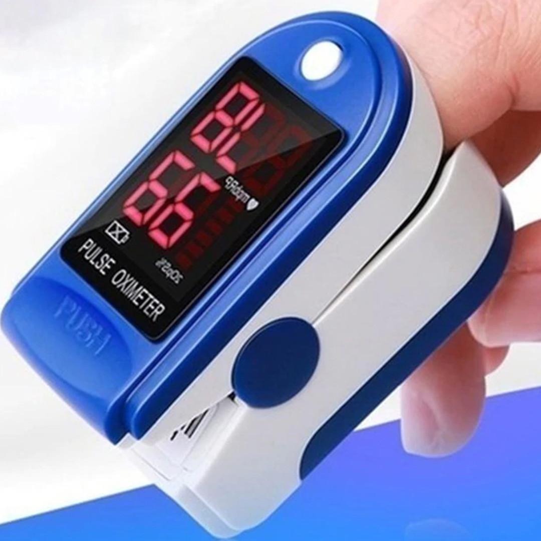 Пульсоксиметр Pulse Oximeter Jziki jzk-302 DL158 пульсометр електронный на палец оксиметр Синий