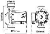 Насос циркуляционный центробеж. KOER KP.GRS-32/8-180 (с гайками, кабелем и вилкой) (KP0252), фото 3