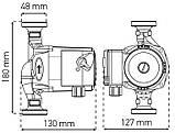 Насос циркуляционный центробеж. KOER KP.GRS-25/4-180 (с гайками, кабелем и вилкой) (KP0248), фото 3