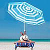 Пляжный зонт с регулируемой высотой и наклоном Springos 220 см BU0011, фото 3