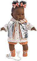 Лялька Llorens 42642 плачуча Ніколь 42 см з помаранчевими бантиками, фото 1