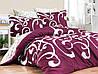 Комплект постельного белья First Choice Ruya Yakut сатин семейный бордовый