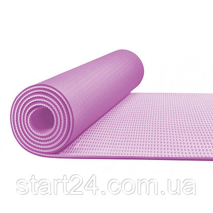 Коврик (мат) для йоги и фитнеса 4FIZJO TPE 6 мм 4FJ0143 Pink/Purple, фото 2