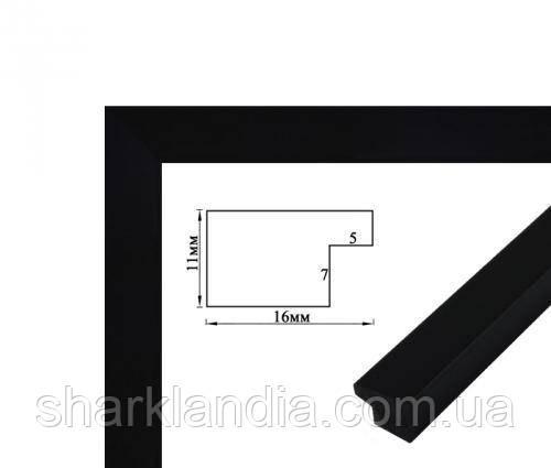 Багетная рамка (черная 2 см)