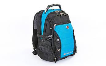 Рюкзак городской VICTOR 35л (PL, р-р 48x31x23см, черный, черный-синий)