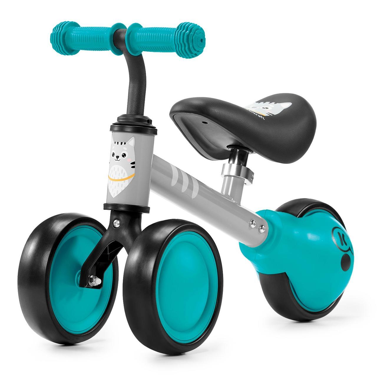 Детский беговел-каталка на трех колесах Kinderkraft Cutie turquoise