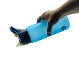 Пляшка для води CASNO 750 мл KXN-1210 Блакитна з соломинкою, фото 2