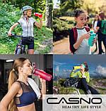 Пляшка для води CASNO 750 мл KXN-1210 Блакитна з соломинкою, фото 7