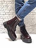 Женские ботинки Dr Martens Jadon в стиле Доктор Мартинс Бордовые НА МЕХУ (Реплика ААА+), фото 3