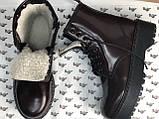 Женские ботинки Dr Martens Jadon в стиле Доктор Мартинс Бордовые НА МЕХУ (Реплика ААА+), фото 5