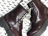 Женские ботинки Dr Martens Jadon в стиле Доктор Мартинс Бордовые НА МЕХУ (Реплика ААА+), фото 6