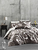 Комплект постельного белья First Choice Ruya Vizon сатин семейный бежевый